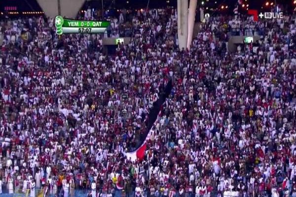 حضور جماهيري يمني لمؤازرة منتخب بلادهم أمام قطر