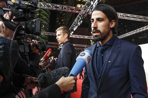 النجم الألماني سامي خضيرة متوسط ميدان ريال مدريد الإسباني