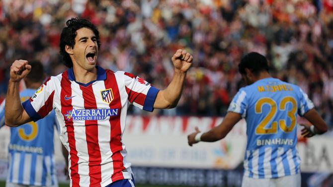 فرحة تياغو مينديز بهدفه في شباك ملقة لمصلحة أتلتيكو مدريد