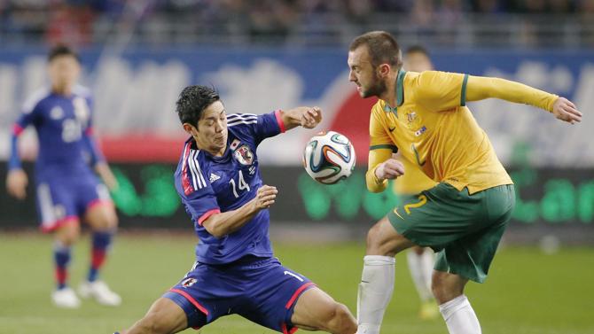من مباراة اليابان واستراليا الودية
