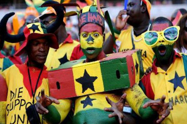 مشجعو منتخب غانا