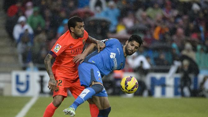 ألفيس في مباراة برشلونة وخيتافي في الليغا