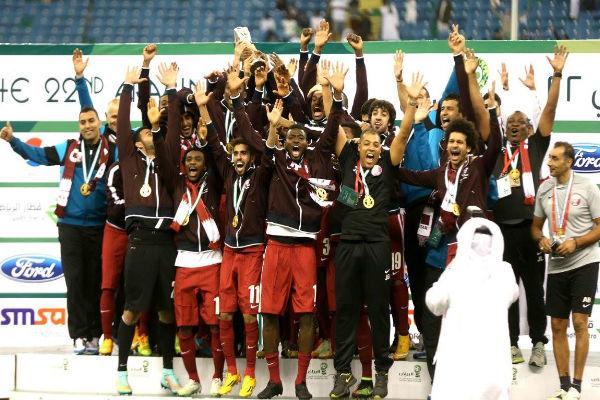 منتخب قطر بطل خليجي 22