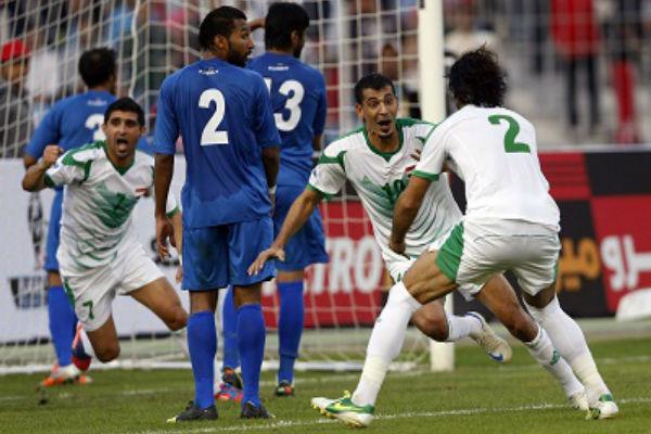 مباراة سابقة بين العراق والكويت