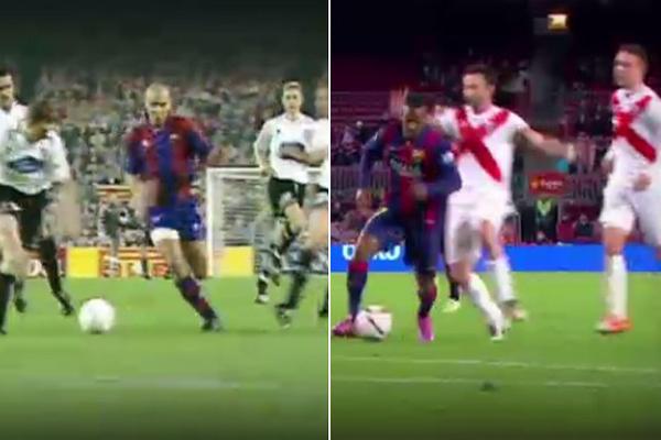 تراوري يسجل هدفا كربونيا من هدف رونالدو مع برشلونة
