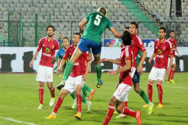 من مباراة الأهلي ومصر المقاصة