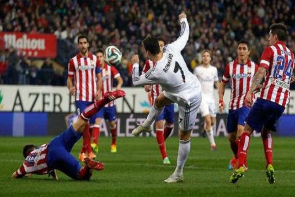 مباراة سابقة بين أتلتيكو مدريد وجاره ريال
