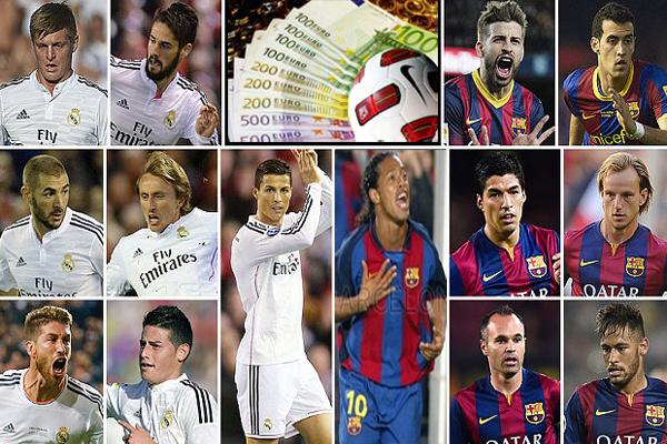 برشلونة وريال مدريد انفقا ملياران يورو في التعاقدات منذ عام 2003
