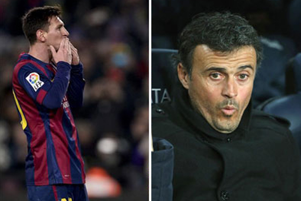 جمهور برشلونة يهتف لميسي ويطلق صيحات ضد انريكي