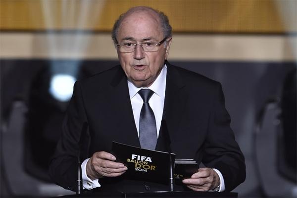 لسويسري جوزيف بلاتر رئيس الاتحاد الدولي لكرة القدم