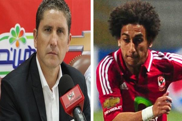 اللاعب حسين السيد والمدرب الإسباني خاريدو
