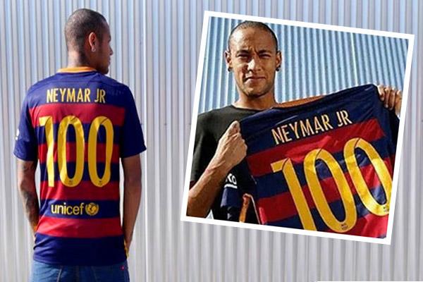 نيمار انضم إلى قائمة اللاعبين الذين لعبوا بألوان برشلونة 100 مباراة رسمية في كافة المسابقات