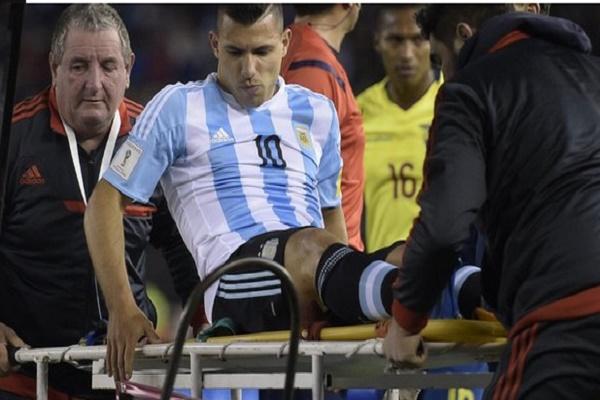 إصابة أغويرو تبعده عن لقاء الباراغواي
