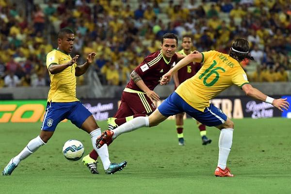 من مباراة البرازيل وفنزويلا
