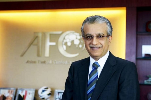 رئيس الاتحاد الاسيوي لكرة القدم الشيخ البحريني سلمان بن ابراهيم ال خليفة