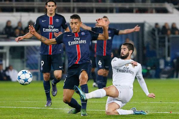 من مباراة باريس سان جيرمان وريال مدريد