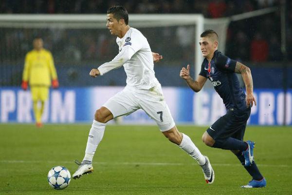 فيراتي يحاول اللحاق بكريستيانو رونالو في مباراة الفريقين في باريس