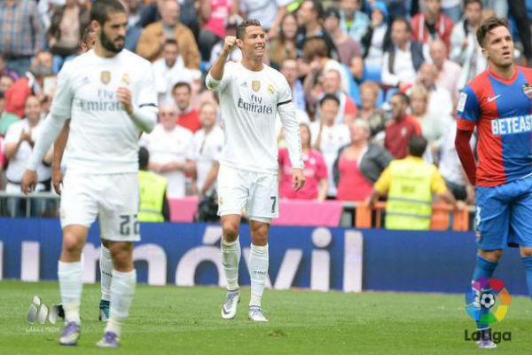 كريستيانو الأكثر تهديفاً في تاريخ ريال مدريد