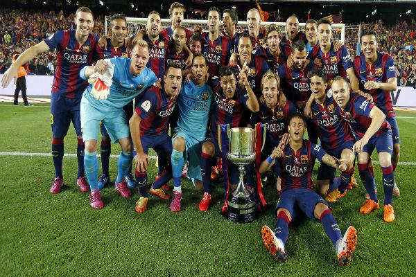برشلونة بطل النسخة السابقة في كأس الملك