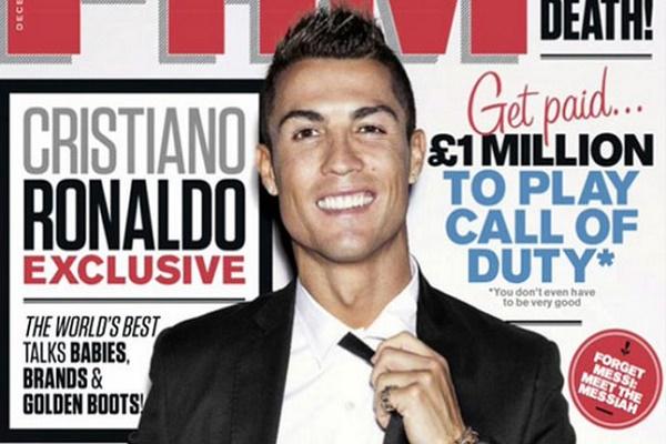 رونالدو على غلاف مجلة FHM británcia