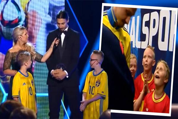طفلان سويديان يصنعان الحدث مع إبراهيموفيتش