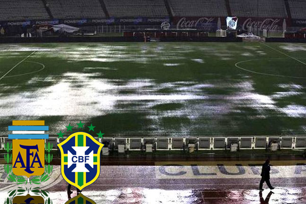 مباراة البرازيل والأرجنتين ستقام فجر السبت في حال تحسن حال الطقس