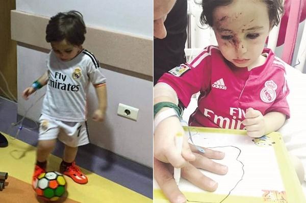 رونالدو يلبي رغبة الطفل اللبناني حيدر في ملاقاته