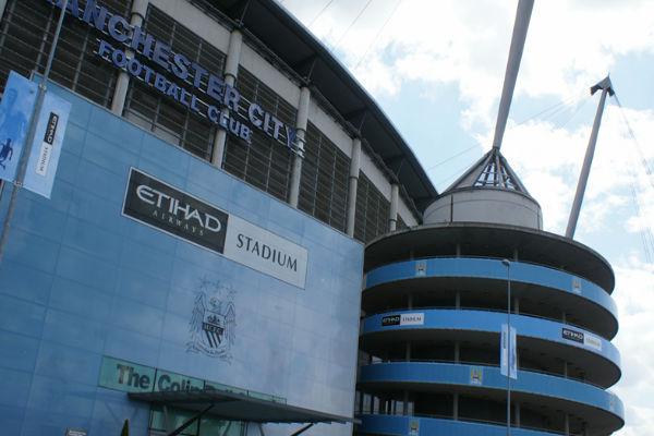 ملعب الاتحاد الخاص بمانشستر سيتي من الخارج