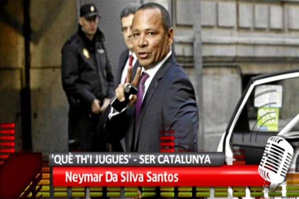 والد نيمار يلوح برحيل ابنه عن إسبانيا في حال استمر ملاحقته قضائيا
