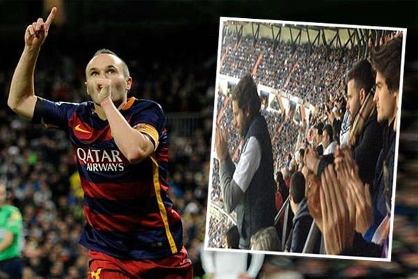 جماهير ريال مدريد تصفق للرسام إنييستا
