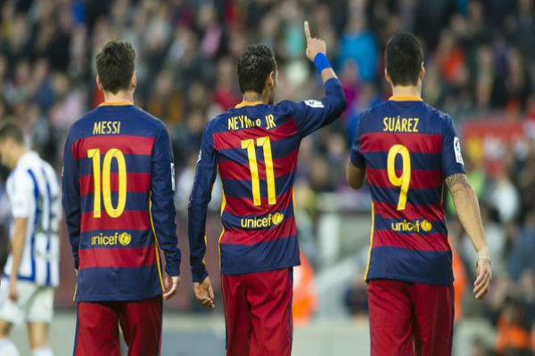 ثلاثي برشلونة في لقاء ريال سوسييداد