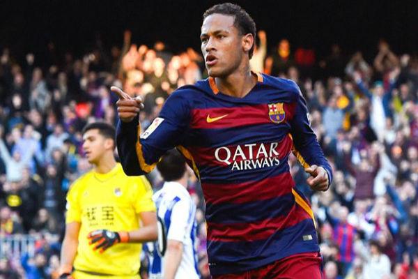نيمار سجل ثنائية مع برشلونة ورفع رصيد أهدافه في الليغا إلى 14 هدفاً