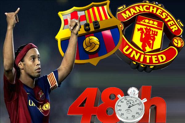 رونالدينيو يكشف تحول مساره من ماشنستر يونايتد إلى برشلونة