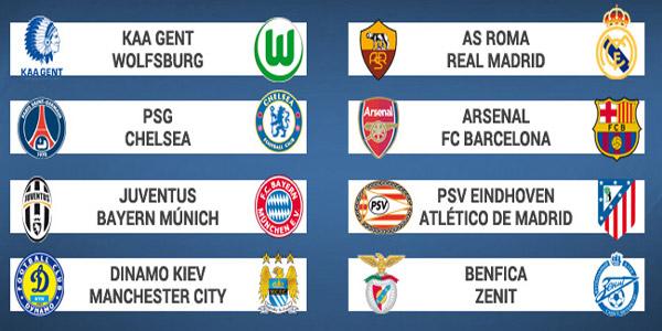 قرعة الدور الـ16 من مسابقة دوري أبطال أوروبا