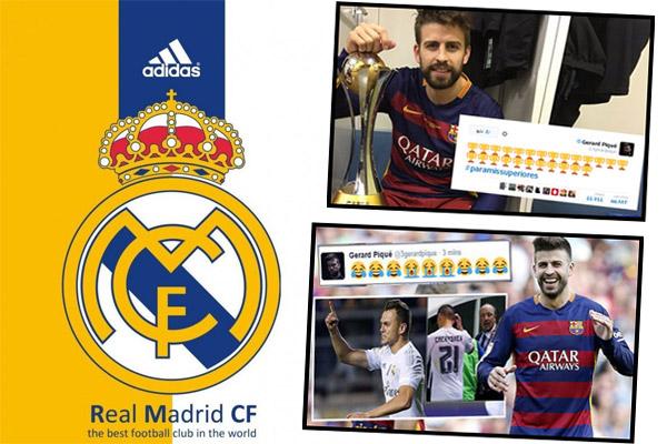 إدارة ريال مدريد تطلب بتجنب استفزازات بيكيه