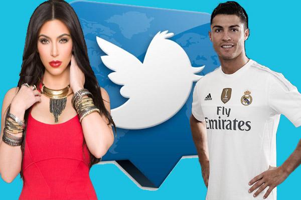 رونالدو يحتل المركز الثاني في تصنيف أغلى التغريدات بعد كيم كارديشيان