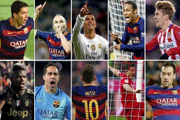 برشلونة يسيطر على قائمة أفضل 10 لاعبين في العالم