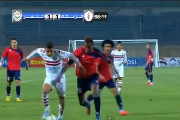 صورة ضوئية تلفزيونية للمباراة