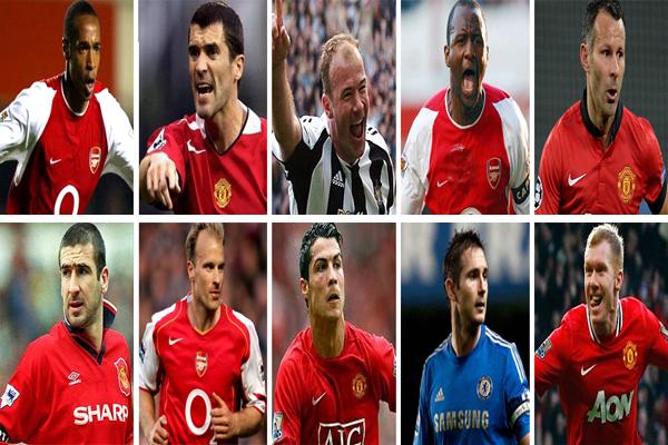 أفضل عشرة لاعبين في تاريخ الدوري الإنكليزي
