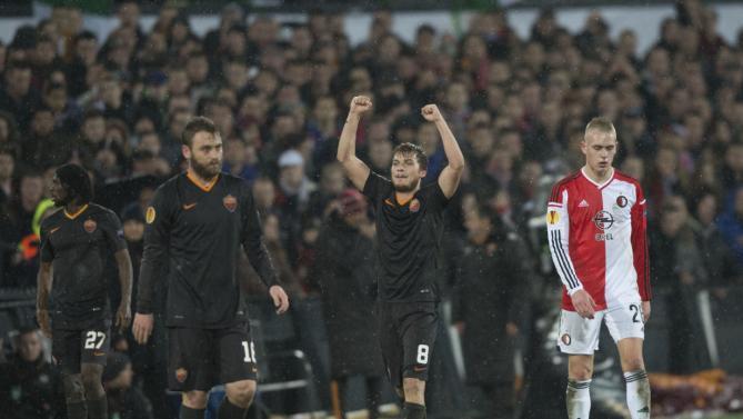 روما يقهر فينورد ويتأهل إلى الدور الثاني من يوروبا ليغ