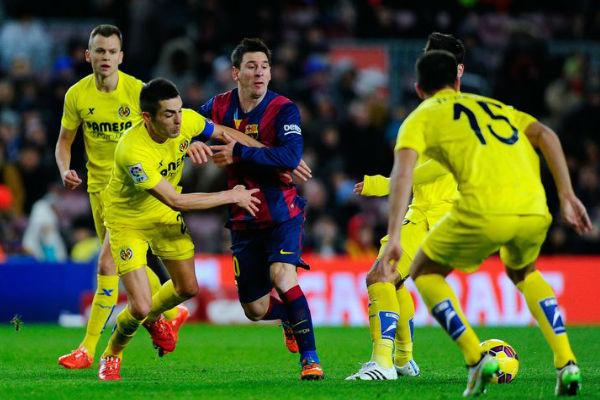 برشلونة وفياريال من مباراة الذهاب في كامب نو