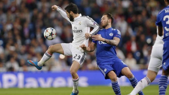 من مباراة ريال مدريد وشالكه