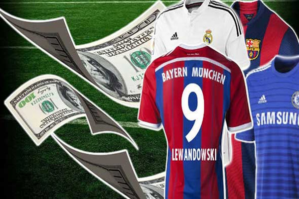 أندية الدوري الإنكليزي تتصدرأعلى الإيرادات من رعاية قمصانها على بقية الأندية الأوروبية