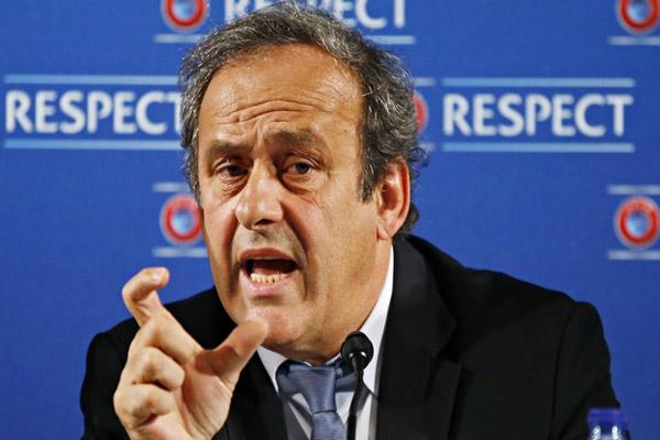 رئيس الاتحاد الأوروبي لكرة القدم الفرنسي ميشيل بلاتيني