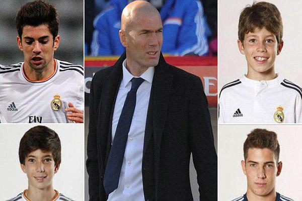 زيزو قد يشرف على تدريب أبنائه الأربعة في ريال مدريد