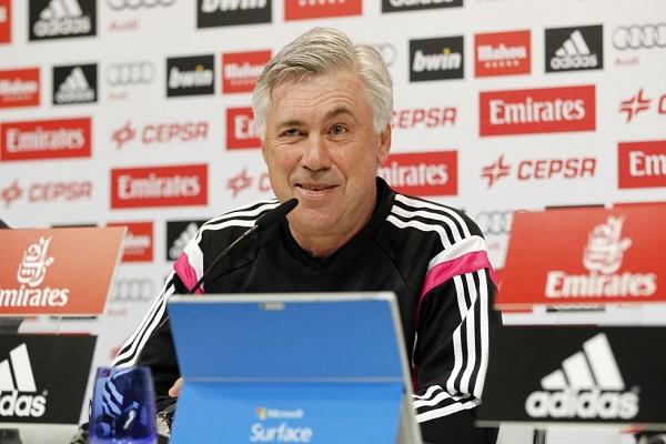 المدرب الإيطالي كارلو أنشيلوتي المدير الفني لريال مدريد الإسباني