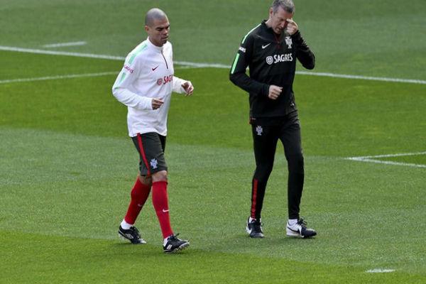 المدافع البرتغالي لريال مدريد بيبي