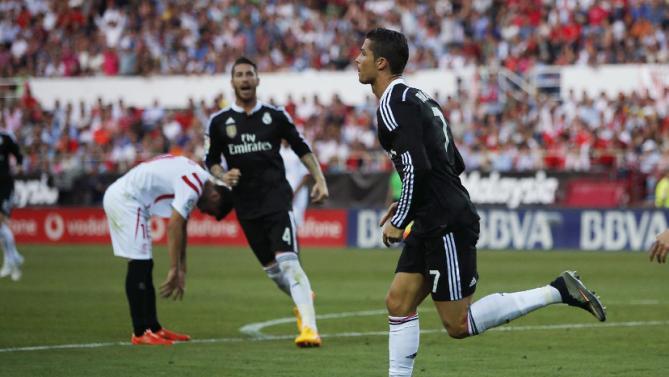 كريستيانو رونالدو يقود ريال مدريد لهزيمة اشبيلية