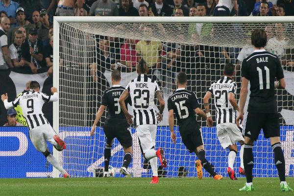 موراتا أحرز هدفاً في مباراة الذهاب بين يوفنتوس وريال مدريد