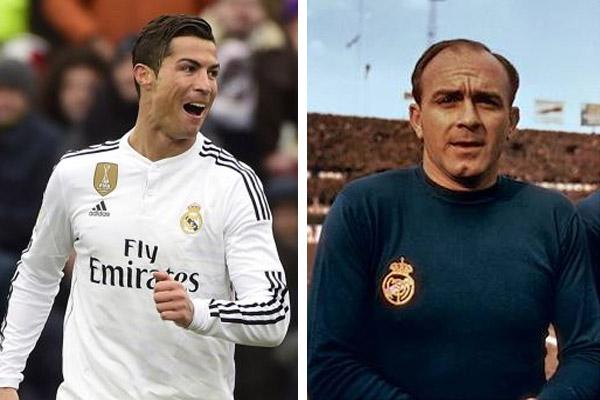رونالدو ودي ستيفانو..أسطورتان متشابهتان في تاريخ ريال مدريد
